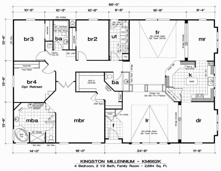 Most Inspiring Modular Homes 4 Bedroom Floor Plans Luxury Double Wide Mobile Home Double Wide Mobile Home Floor Plans Pic