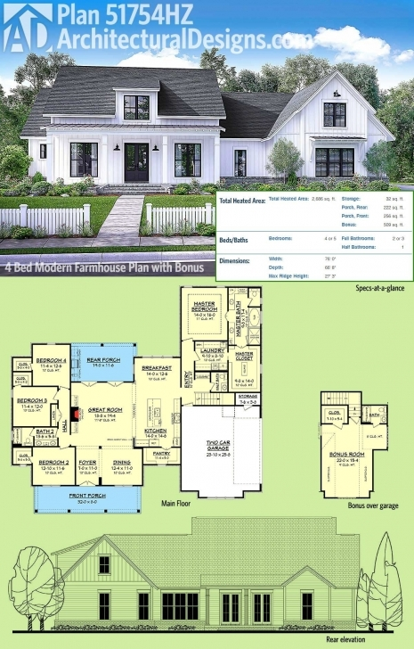 Must See 1.5 Story House Plans With Loft Best Of Plan Hz Modern Farmhouse 1.5 Story House Plans Picture