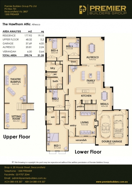 Must See Our Homes - The Hawthorn - Premier Builders Group Premier Homes Floor Plans Photo