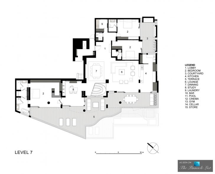 Picture of Level 7 Floor Plan – Clifton View 7 Luxury Apartment – Cape Town Luxury Apartment Floor Plans Image