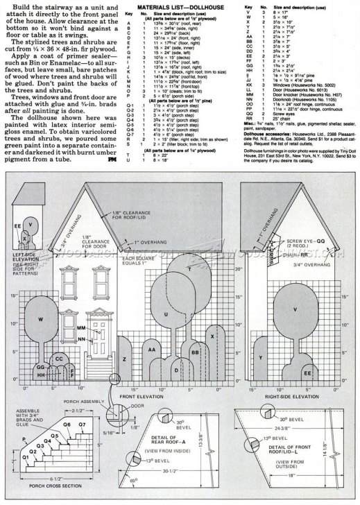 Picture of Wooden Doll House Plans • Woodarchivist Doll House Plans Photo