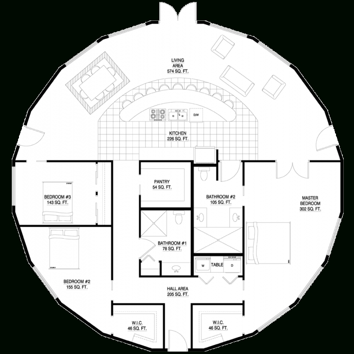 Stunning Love This! I Used To Draw Round Floor Plans When I Was A Kid! Always Round House Plans Image