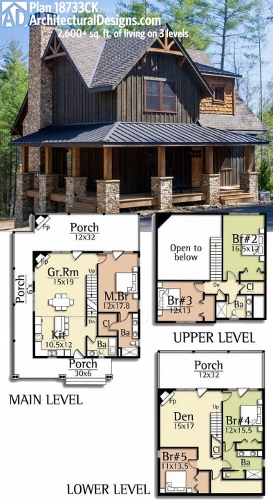 Top Photo of Architectural Designs Rugged House Plan 18733Ck Gives You Over 2,600 Cabin House Plans Photo